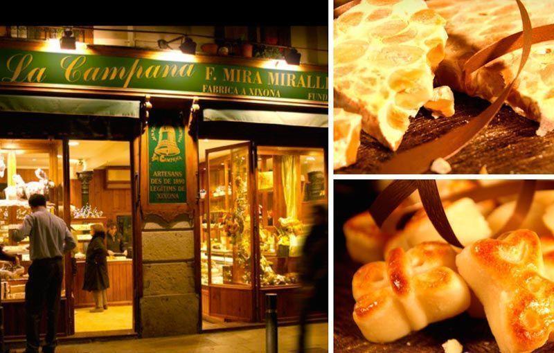 Las mejores tiendas de turrones de barcelona for Restaurante la campana barcelona