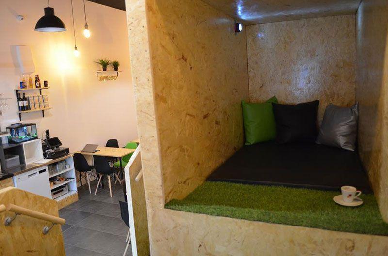 cama en nappuccino siesta café barcelona