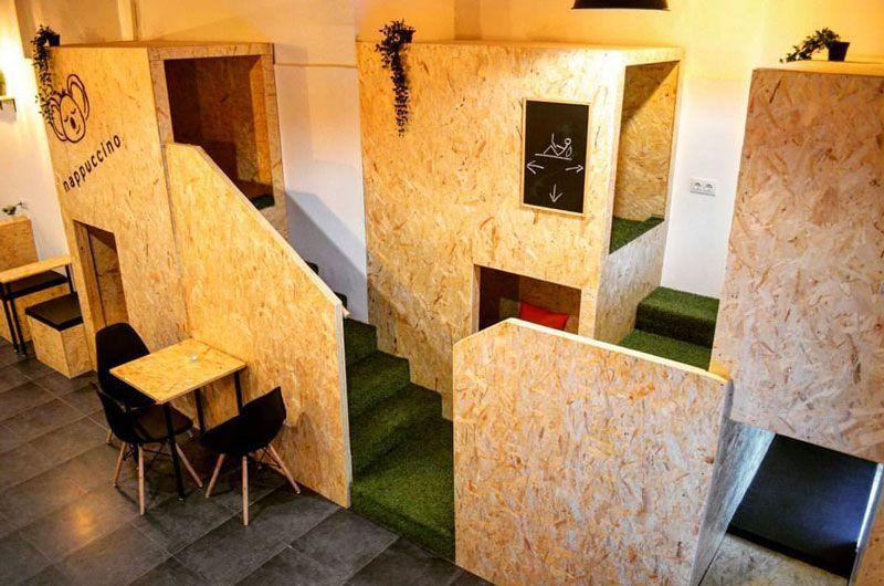 interior cafetería nappuccino siesta café barcelona